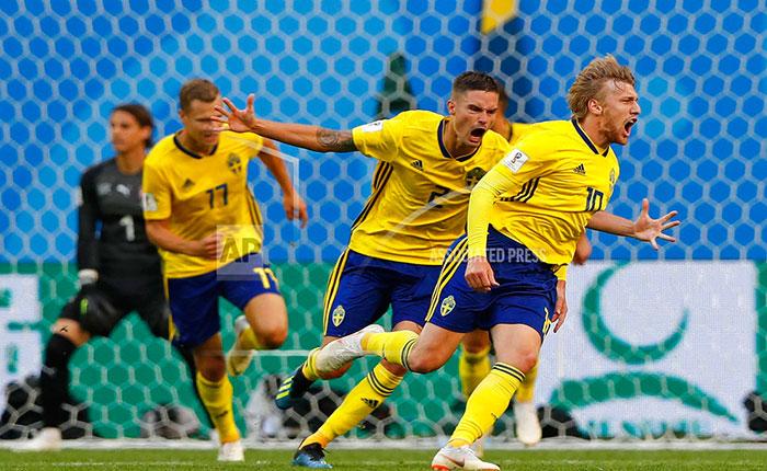 Suecia superó a Suiza por la mínima y avanzó a cuartos de final #Rusia2018