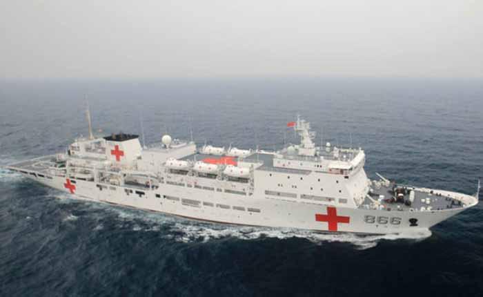 Autoridades castrenses confirmaron que buque hospital chino llegará a Venezuela
