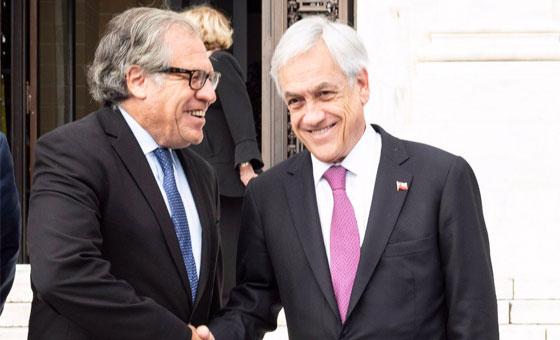 Piñera reitera en la OEA que no cree en la opción militar para Venezuela