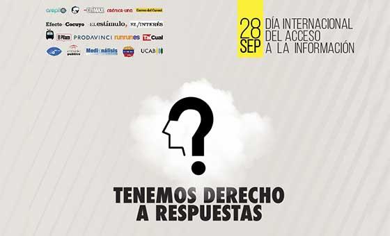 #TenemosDerechoARespuestas, campaña venezolana por el Día Internacional del Acceso a la Información