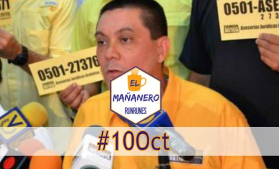 El Mañanero de hoy #10Oct: Las 10 noticias que debes saber