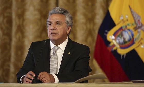 Presidente Moreno ordena en Ecuador restricción a libertad de tránsito y movimiento en Ecuador