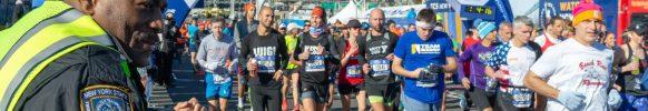 Ramón Mena (21113) celebra un reto personal: haber corrido su maratón número 49. FOTO: Numa Roades.