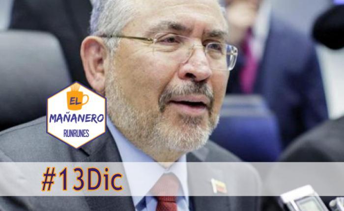 El Mañanero de hoy #13Dic: Las 8 noticias que debes saber