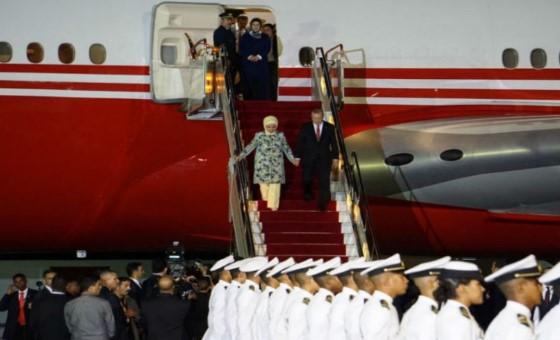 Presidente de Turquía llega a Venezuela en su primera visita oficial