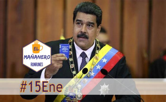 El Mañanero de hoy #15Ene: Las 8 noticias que debes saber