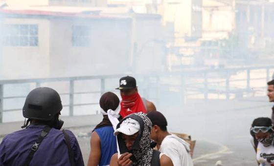 Manifestación en El Paraíso fue reprimida con lacrimógenas #23Ene