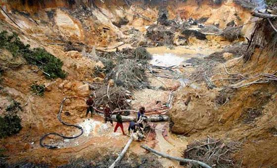 Diario El País: El 85% de la minería ilegal del Amazonas está en Venezuela