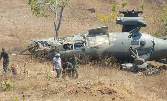 Helicóptero de la FAN se estrelló en Cojedes dejando al menos a 5 personas heridas