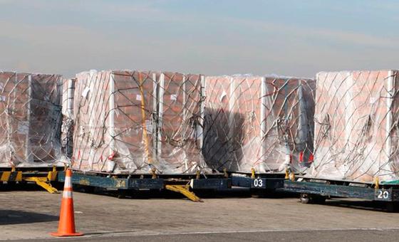 Arribó a Venezuela avión con 32 toneladas de ayuda humanitaria
