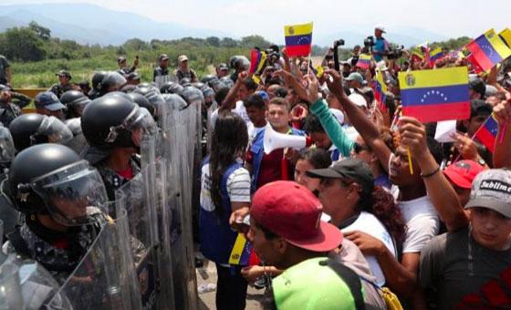 EE.UU. sanciona a funcionarios de seguridad venezolanos por impedir la entrada de la ayuda humanitaria