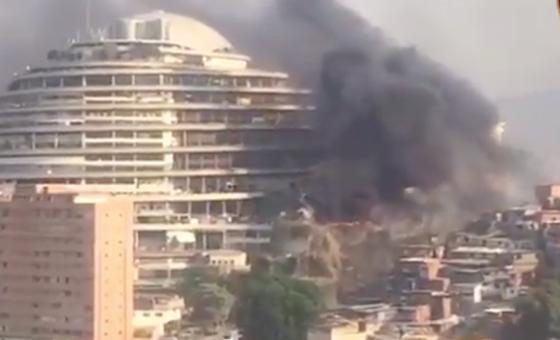 Reportan incendio en los alrededores de El Helicoide