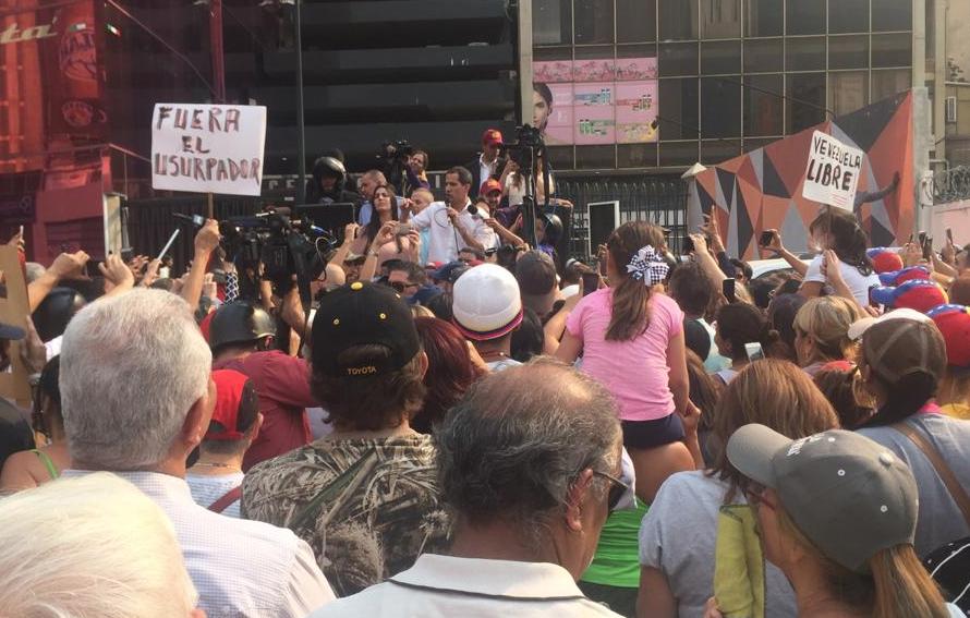 Juan Guaidó recorrió el este y oestedeCaracascomo parte de la Operación Libertad