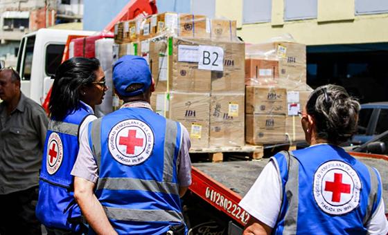 Cruz Roja asegura que ayuda humanitaria llegó a 38 centros de salud del país