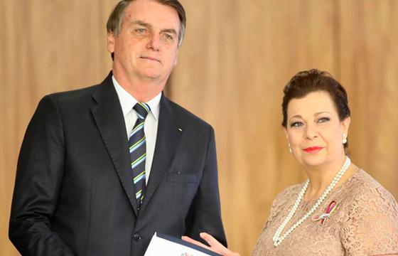Jair Bolsonaro reconoce a Belandria como embajadora de Venezuela ante Brasil