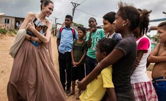 Angelina Jolie advierte que 20 mil niños venezolanos pueden convertirse en apátridas