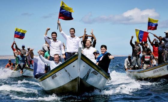 Guaidó llegó a Nueva Esparta como parte de su recorrido nacional