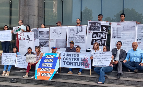 Protestaron frente al PNUD en rechazo a las torturas