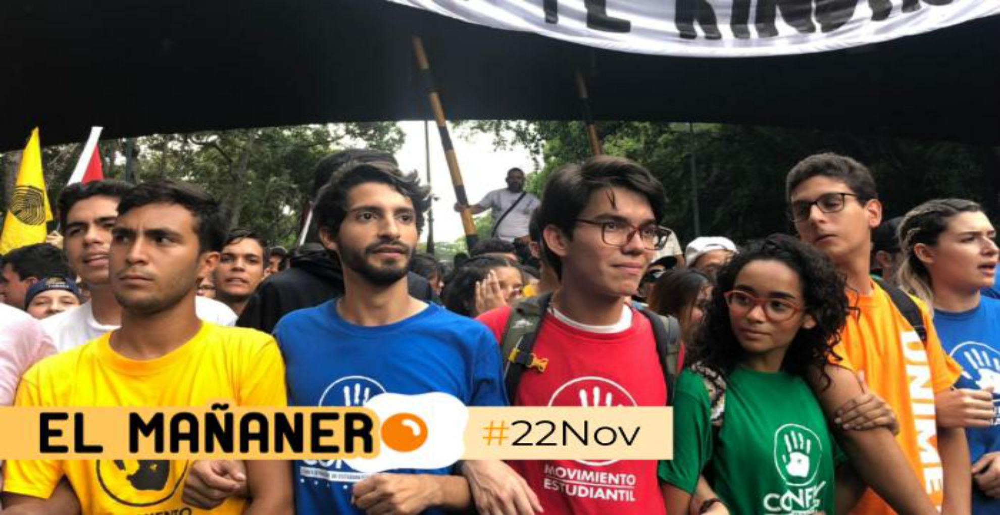 El Mañanero de hoy #22Nov: Las 8 noticias que debes saber
