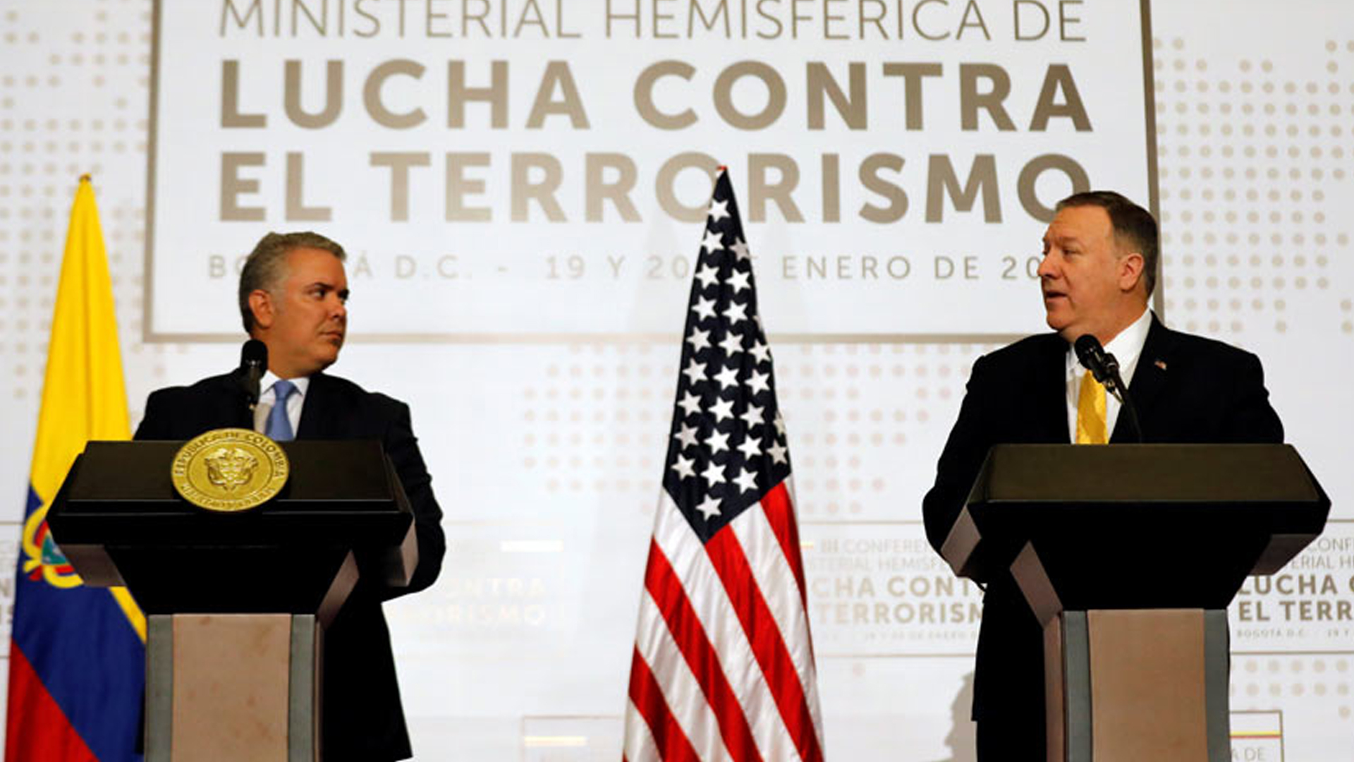 """Mike Pompeo: """"EE.UU y Colombia seguirán trabajando por la democracia de Venezuela"""""""