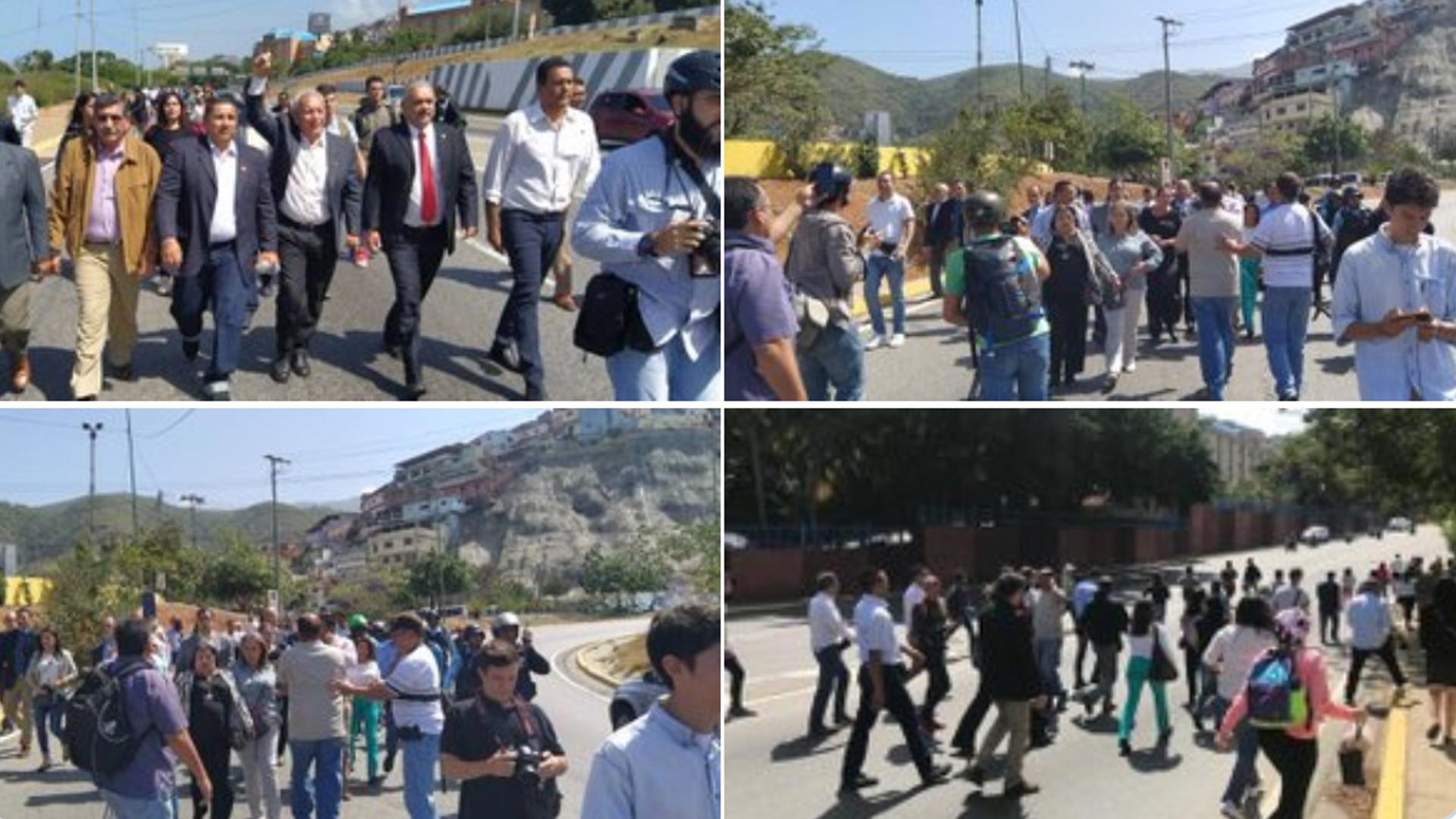 PNB detuvo caravana de diputados que se trasladaba a La Guaira