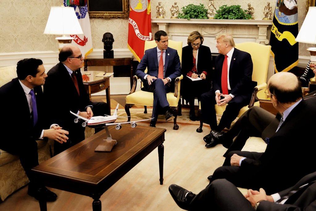 Donald Trump recibe a Juan Guaidó en la Casa Blanca