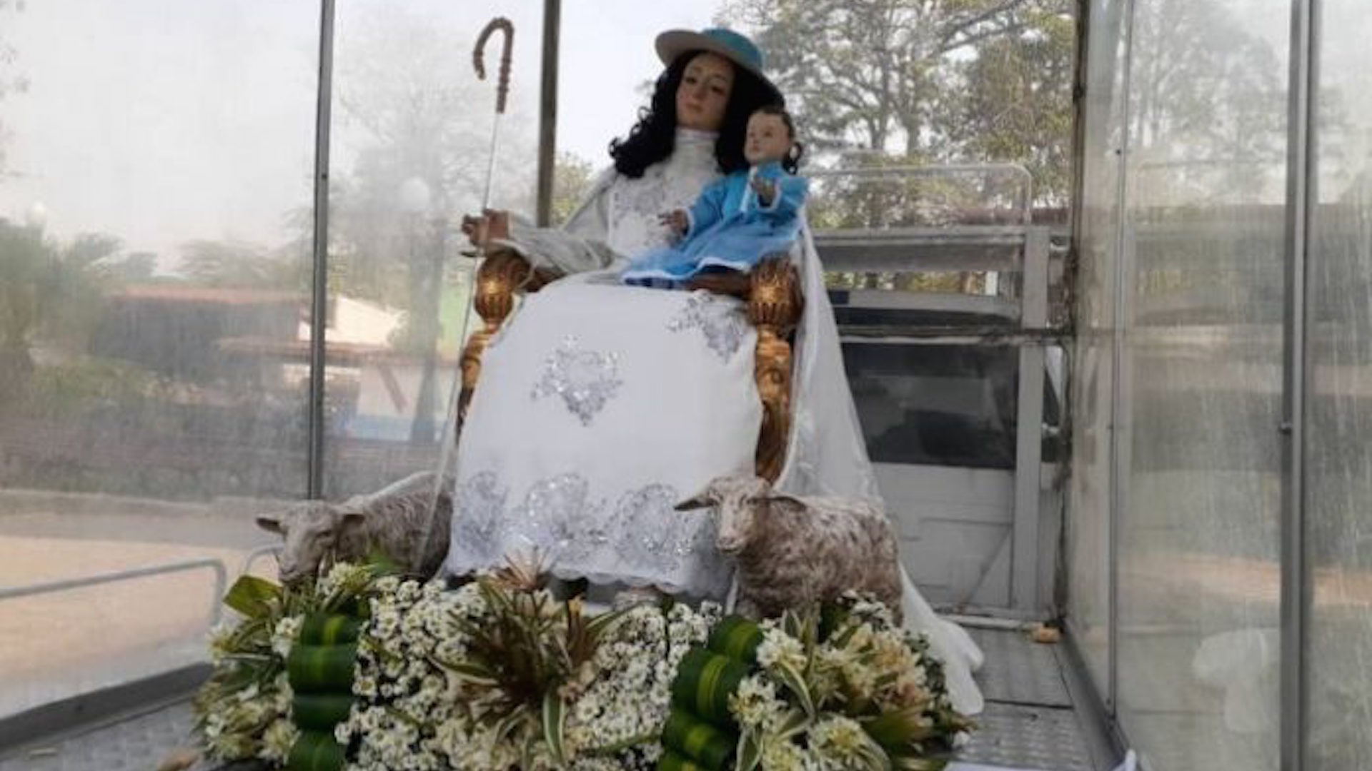 Divina Pastora recorre calles de Barquisimeto en medio de pandemia de covid-19