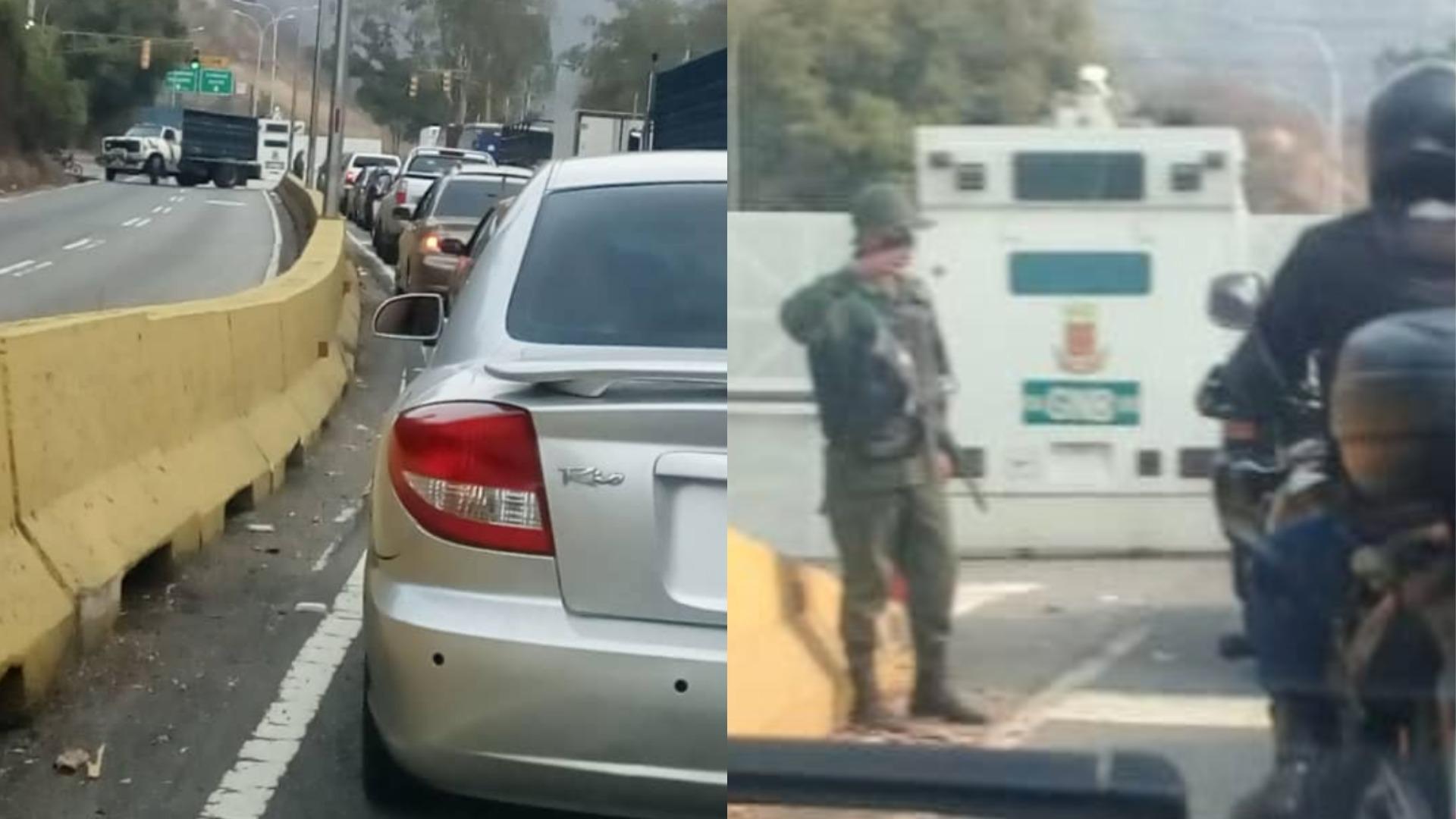 Restringen paso a Caracas desde la carretera Panamericana