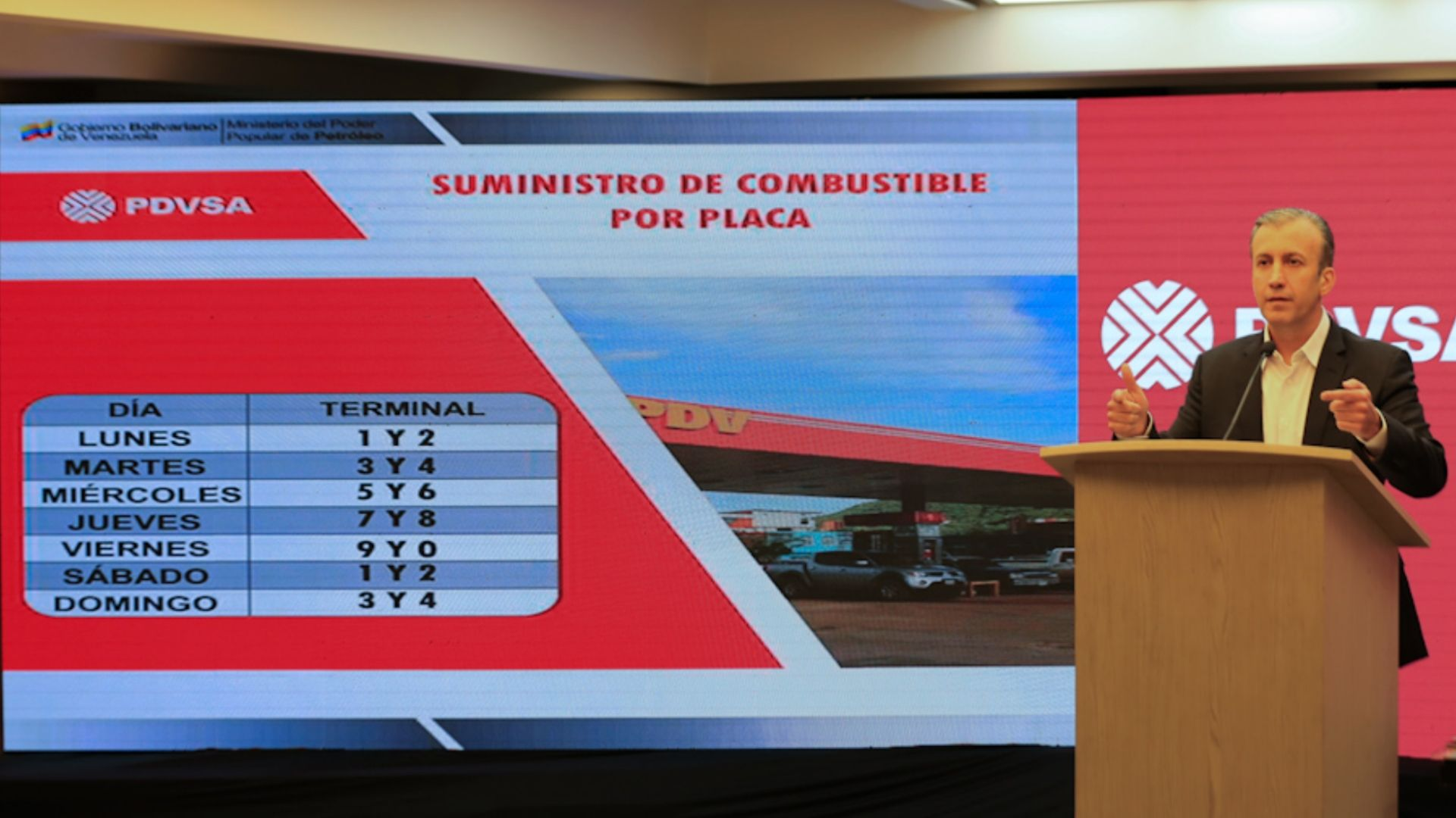 El Aissami: Subsidio de gasolina se hará a través del Sistema Patria y el INTT