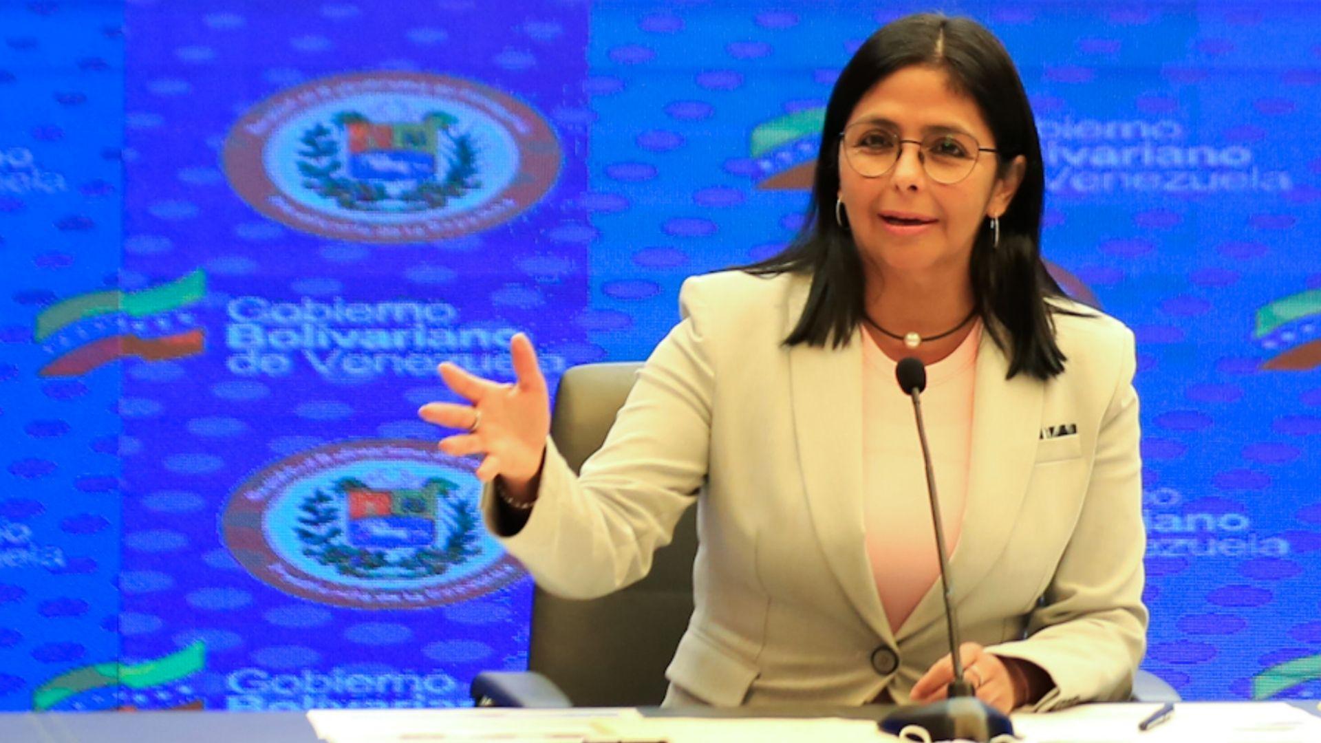 Delcy Rodríguez denunció