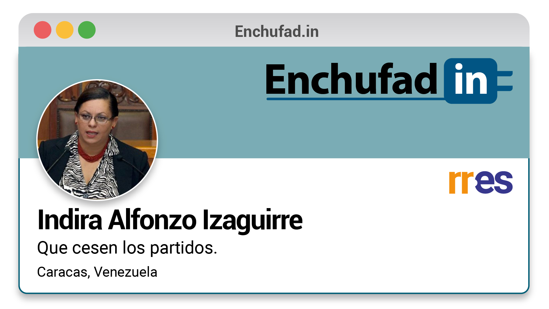 #EnchufaDÍN | Felicita a Indira Alfonzo por su nuevo cargo