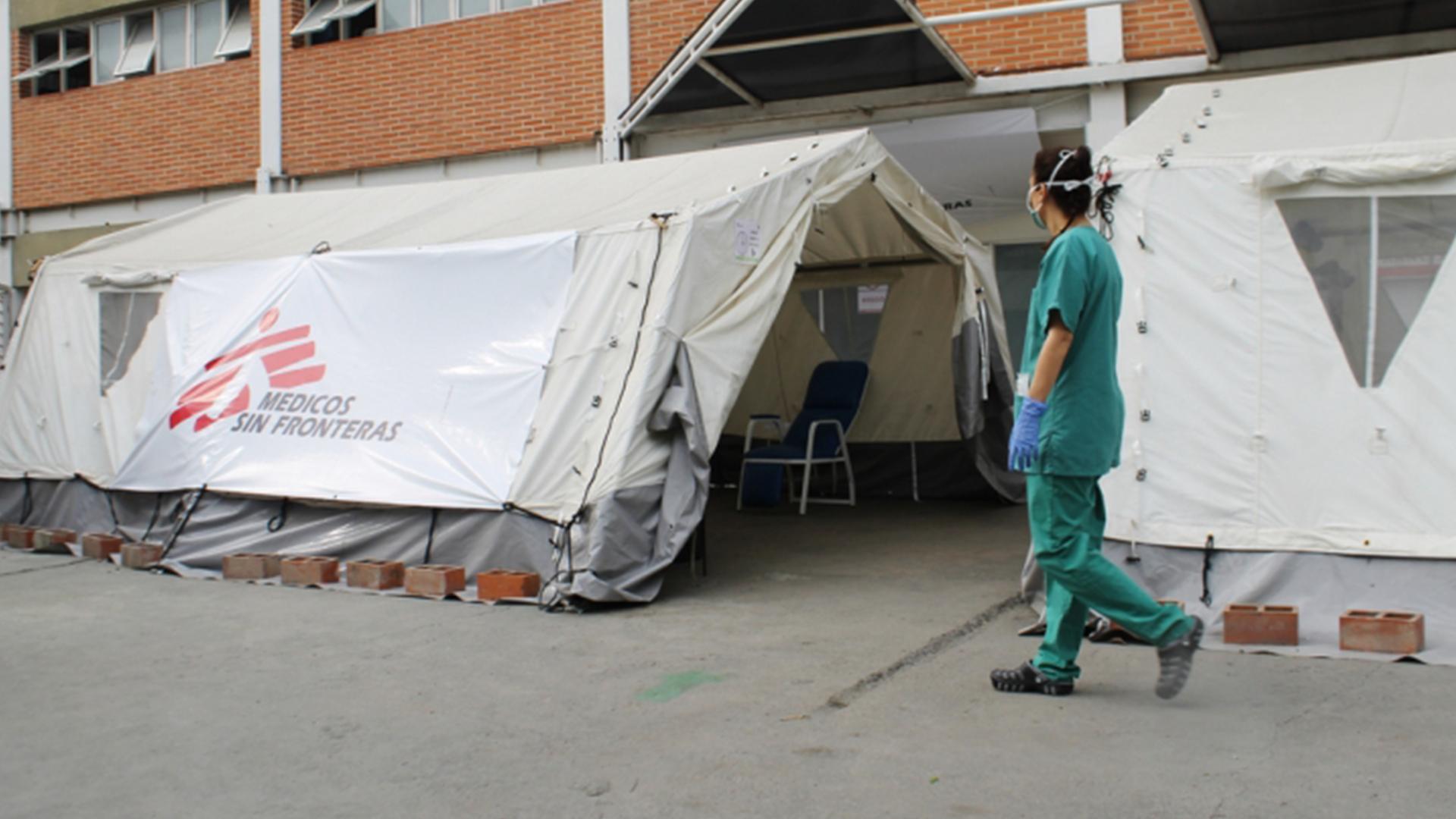 Médicos sin Fronteras atienden a pacientes con COVID-19 en hospital de Petare