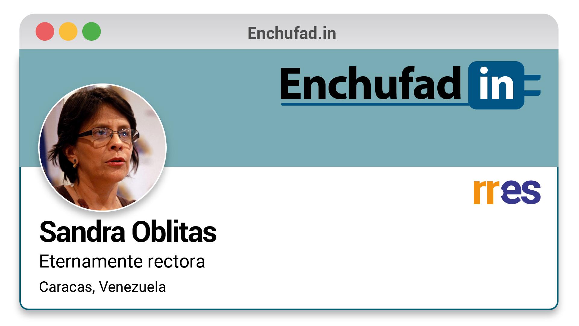 #EnchufaDÍN | Felicita a Sandra Oblitas por su nuevo cargo