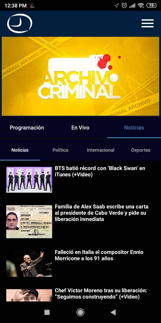 RCTV aplicación