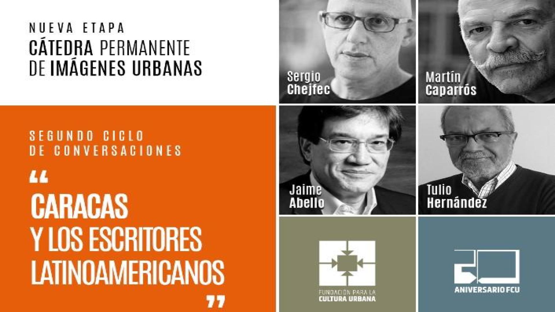 """Tres conversaciones en línea sobre """"Caracas y los escritores latinoamericanos"""""""