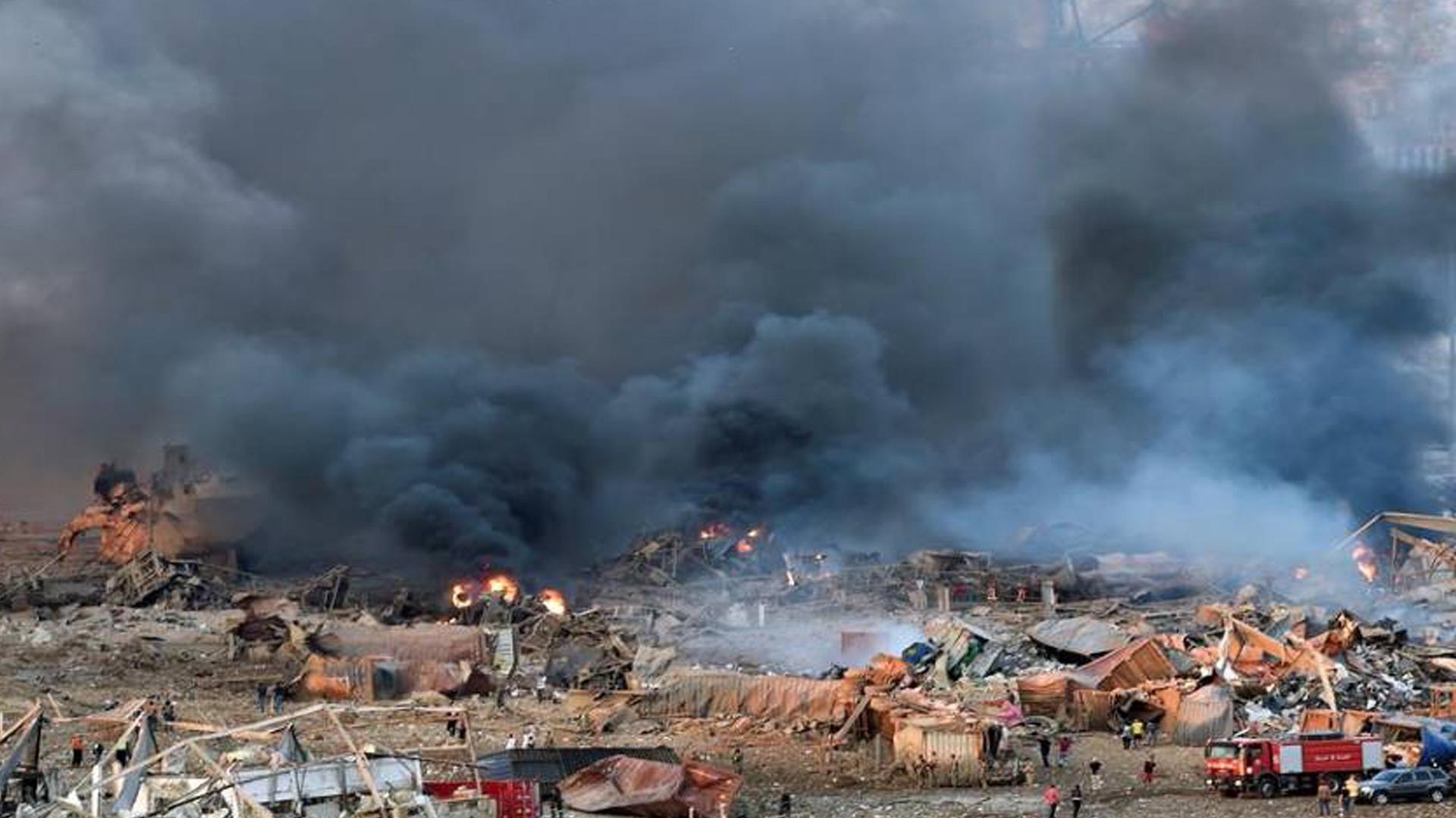 FOTOS | Explosión en Beirut deja al menos 63 muertos y 3.000 heridos