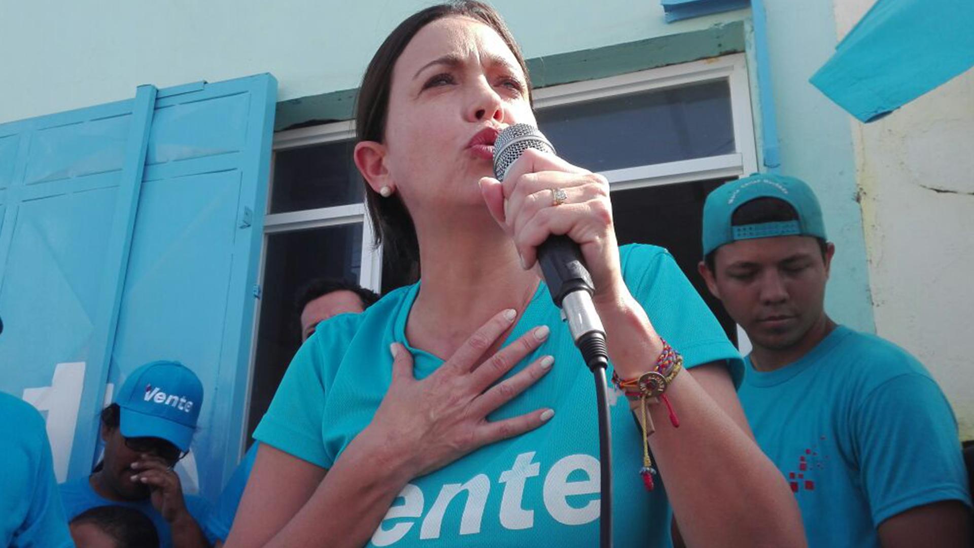 María Corina Machado descarta opción electoral para superar la crisis en el país