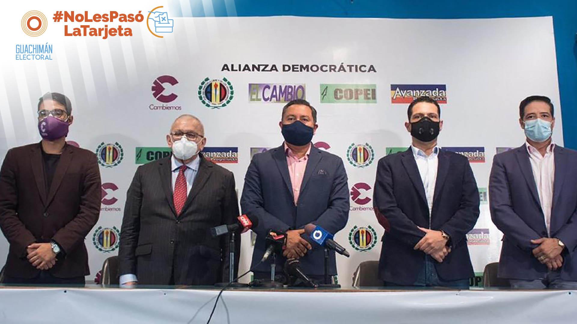NoLesPasóLaTarjeta | Alianza Democrática: la unidad al otro lado de la unidad