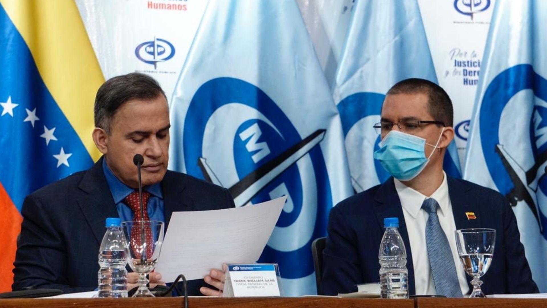 Arreaza y Saab presentan informe de DDHH realizado en Venezuela