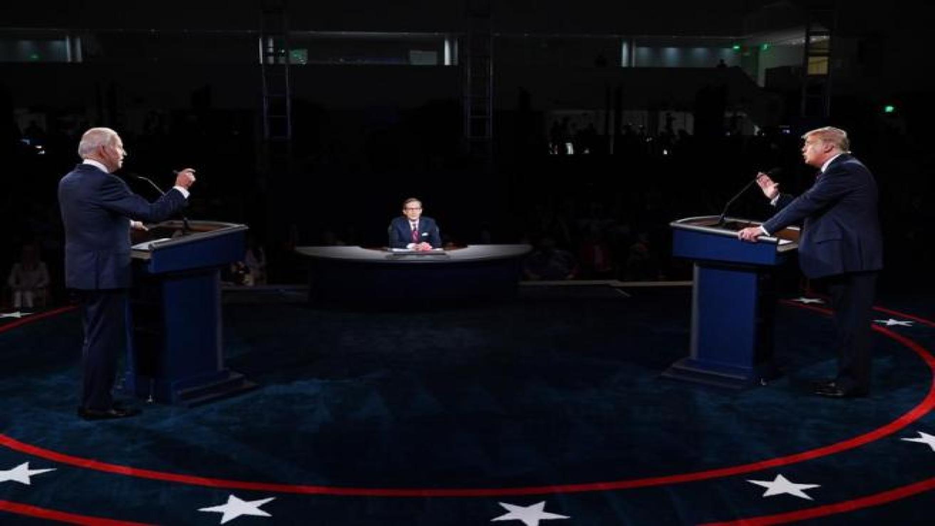 5 de los momentos más comentados del debate entre Trump y Biden