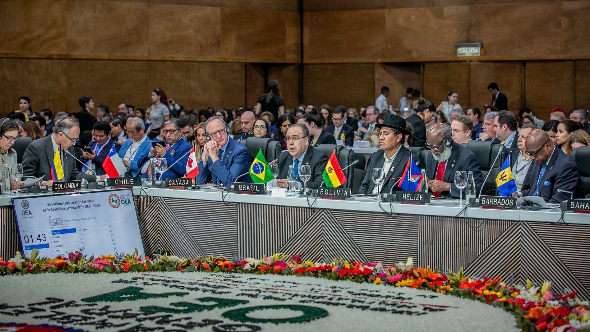 Asamblea General de la OEA inicia con Venezuela y Nicaragua como tema central