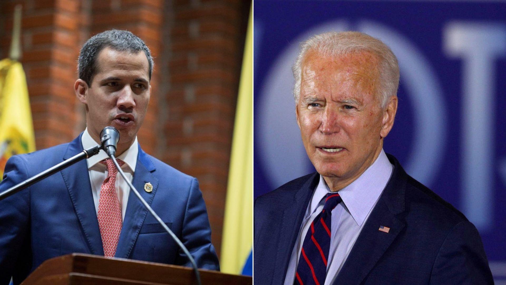 Guaidó felicita a Biden por su victoria en EEUU y agradece el apoyo de la gestión de Trump