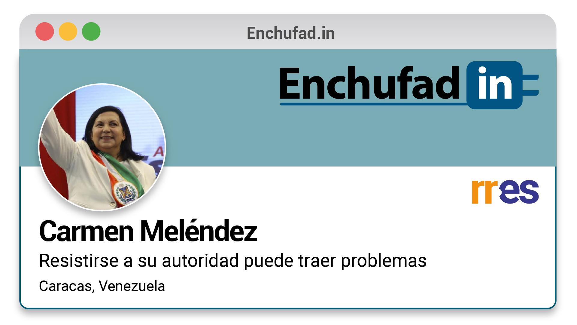 #EnchufaDÍN | Felicita a Carmen Meléndez por su nuevo cargo