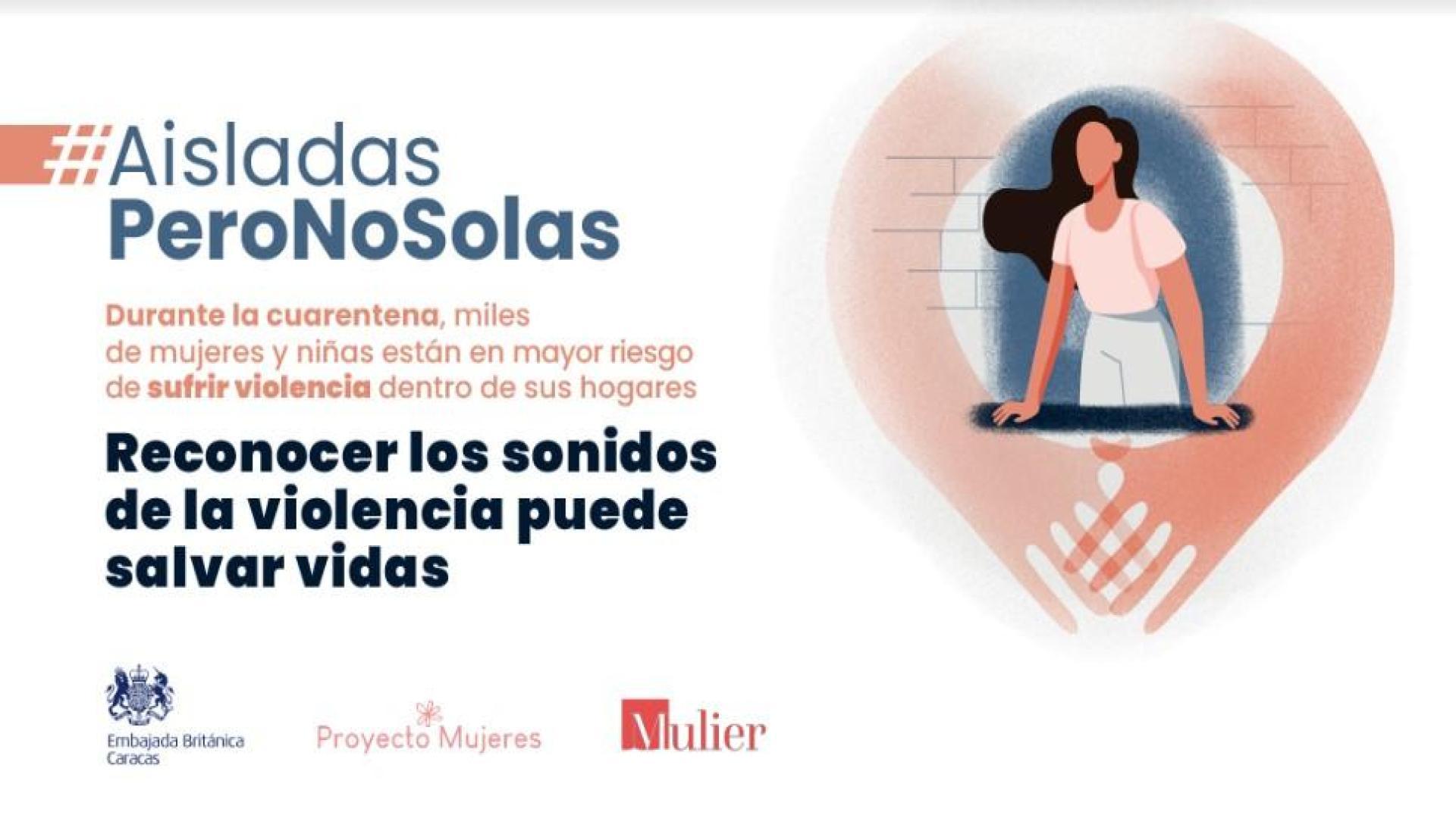 """Lanzan campaña """"Aisladas, pero no solas"""" para alertar sobre la violencia doméstica durante la pandemia"""