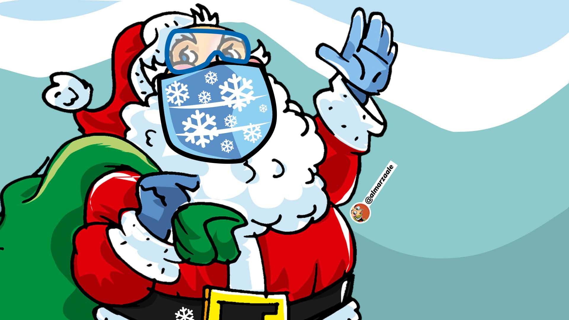 Comunicado de bioseguridad de Santa Claus, por Reuben Morales