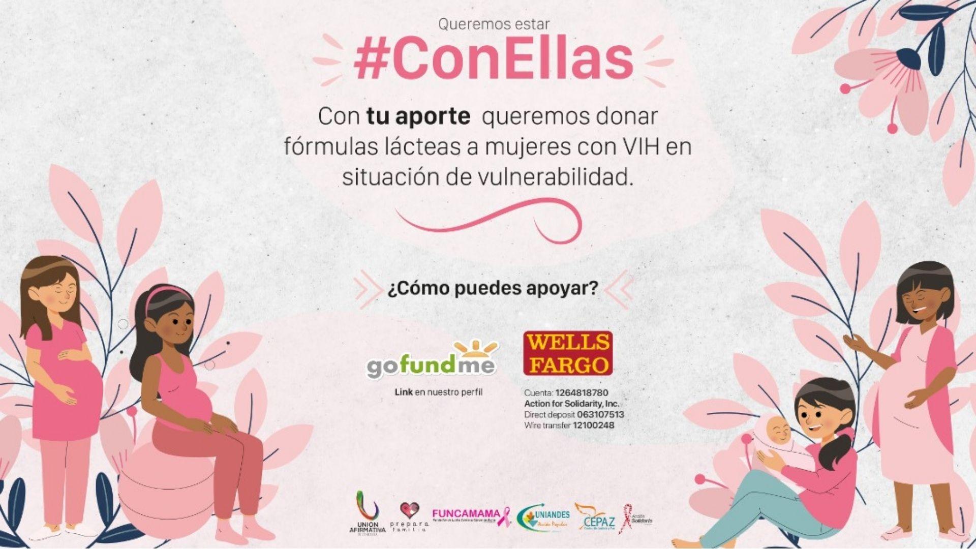 Alianza #ConEllas lanza campaña para ayudar mujeres embarazadas con VIH/sida