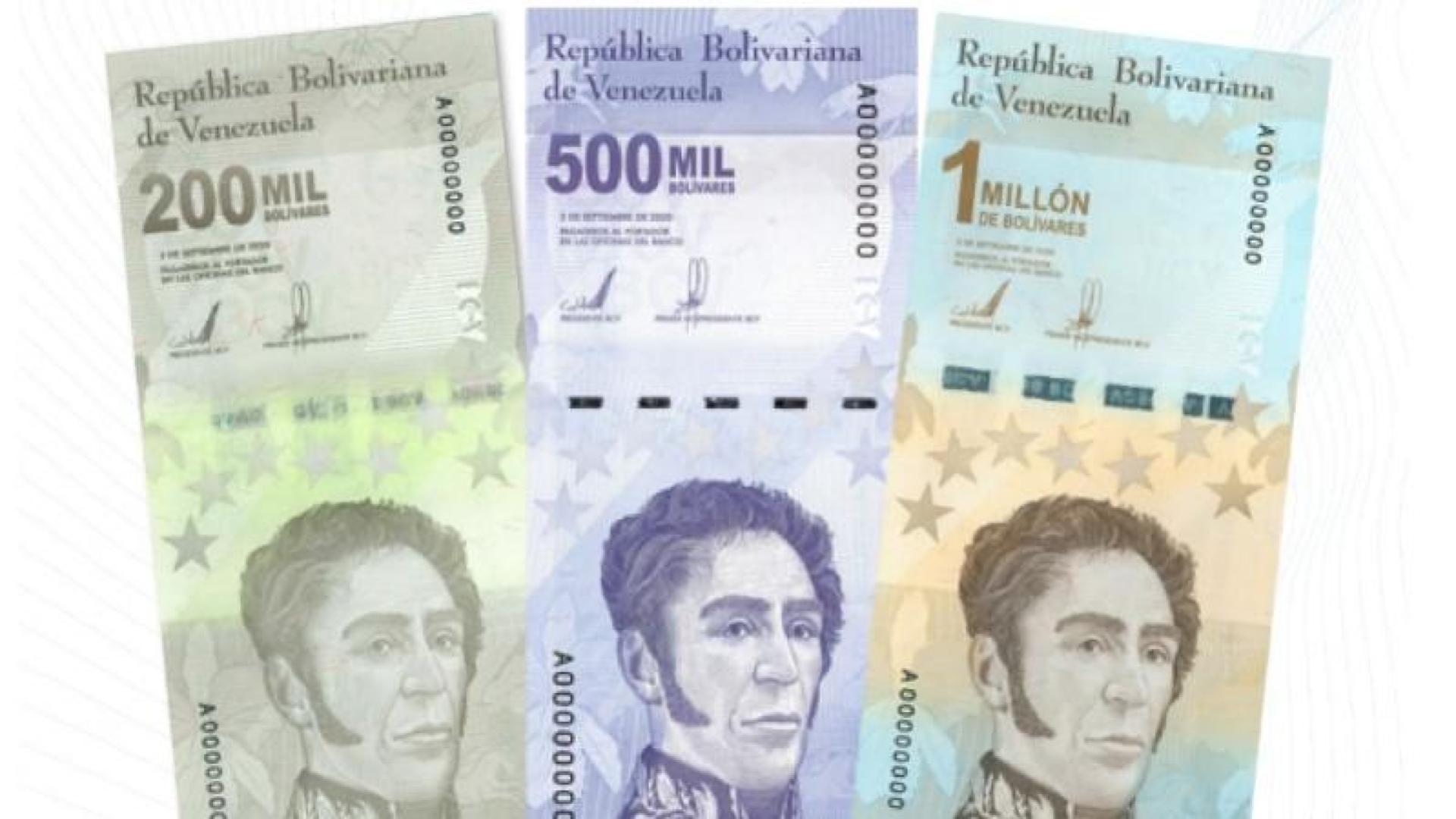 BCV anunció la incorporación de tres nuevos billetes al cono monetario